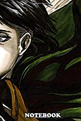 """Notebook: Levi Ackerman Color Version , Journal for Writing, College Ruled Size 6"""" x 9"""", 110 Pages"""