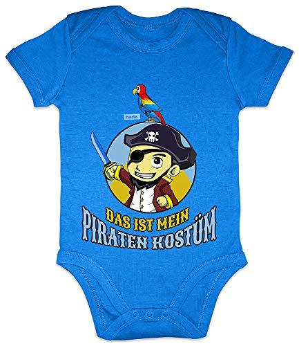 (HARIZ Baby Body Kurzarm Das Ist Mein Piraten Kostüm Karneval Kostüm Plus Geschenkkarte Royal Königs Blau 0-3 Monate)