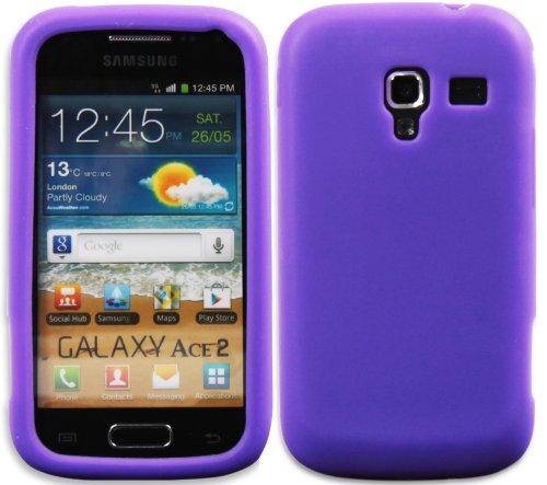 Luxburg In-Colour Design Custodia Cover per Samsung Galaxy Ace 2 GT-I8160 colore índigo/viola, in silicone