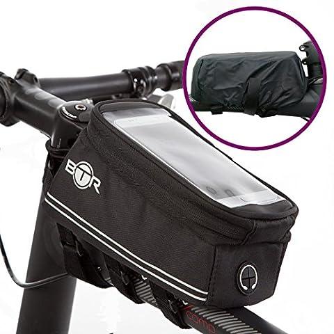 Bike Mobile Phone Holder BTR Bike Bag – Waterproof Bicycle Frame Bag 100% Guaranteed To (Borsa Telaio)