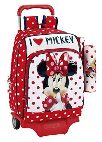 Minnie-Mouse-Mochila-escolar-42-cm-Rojo-y-Blanco