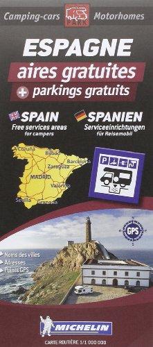 Carte Routiere Espagne des Aires Gratuites et Parkings Gratuits (Trailers Park Motor Home Stopovers) por Trailer'S Park