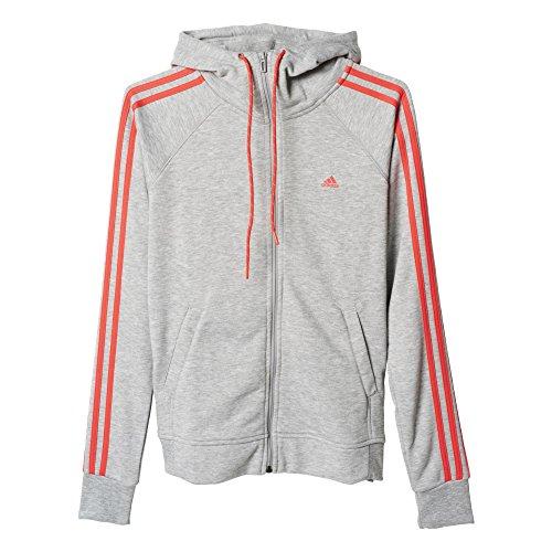 adidas AJ4718 Sweat-shirt à capuche Femme Gris/Rouge