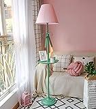 Eeayyygch Stehleuchte Schlafzimmer Stehleuchte Bett vertikale Leuchte Fußschalter LED Stehleuchte (Größe: Gesamthöhe 160 cm) Stehlampen (Farbe: Pink, Größe: A) (Farbe : Grün, Größe : B)