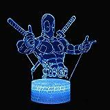 Luci notturne Luci notturne 3D Tema Super Paladino Luci 3D Luci notturne a led 7 colori Cambia Touch Mood Lights Regali di Natale