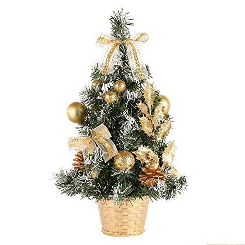 hysxm 30Cm Weihnachten Mini Kleine Kiefer Tischdekoration Ornamente Weihnachtsschmuck Für Home Xmas Tree (Mini Ornaments Tree Halloween)