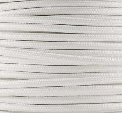 Textilkabel, Stoffkabel, Lampen Kabel Strom, 2-adrig, 2x0,75mm², GWH-Weiß von GWH auf Lampenhans.de
