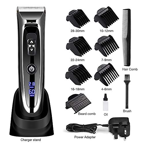 Hair Clipper with Motorised Adjustable Comb Professional Hair Cutter  Electric Hair Trimmer Kit Ceramic Blade IPX4 c52a559487bd