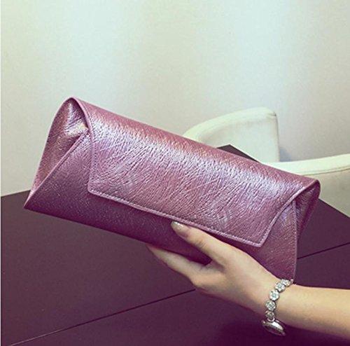 ZYT Nido grano pelle pochette da sera borsa nuove donne dell'uccello borsa dell'impulso europeo moda in pelle borsa a tracolla . pink