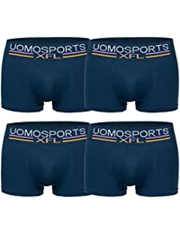 Mens Fashion Lounge Boxershorts Uomo. 4er Pack Retroshorts in aktuellen Trendfarben