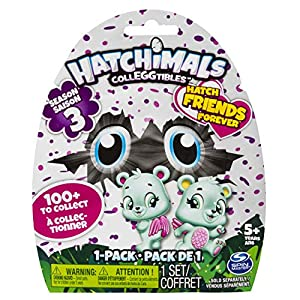 Spin Master Hatchimals CollEGGtibles 1 Pack - Season 3 Niño/niña - Kits de Figuras de Juguete para niños (5 año(s), Niño/niña,, 127 mm, 50,8 mm, 152,4 mm)