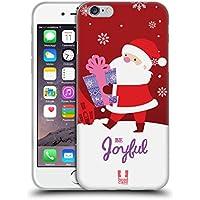 Head Case Designs Babbo Natale Decorazioni Natalizie Cover Morbida In Gel Per Apple iPhone 6 / 6s