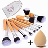 Start Makers 12-teiliges Makeup Pinsel Set Make Up Kabuki Pinselset Foundation Flüssige Dichte