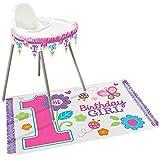Amscan Sweet de primer cumpleaños para niña alta silla Kit de decoración de, rosa/morado, talla única