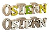 Schriftzug Ostern Holz Osterhase Deko-Schild Ostern Osterschild Deko Schriftzug 39 cm