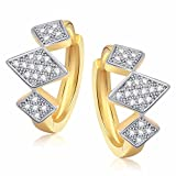 Efulgenz CZ Huggie Earring for Girls & W...