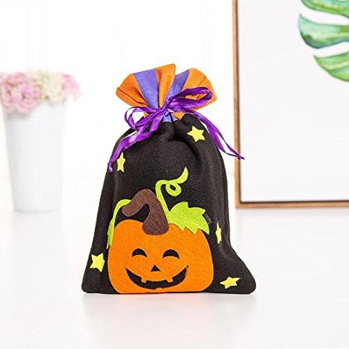 �ßigkeitstasche/Nette Hexen Süßigkeiten Verpackung/Für Kinder Festliche Dekoration/Kinder-Party-Speicher-Beutel-Geschenk (B) (Halloween-dekoration Probe Gläser)