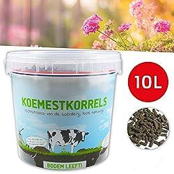 JUNEO TKSTAR Pflanzennahrungs Fertilizer Dünger Organischer Mist Umweltfreundlicher Dünger für Gemüsegärten Ziergärten Obstbäume und Rasen, Entwickelt in Deutschland 10L