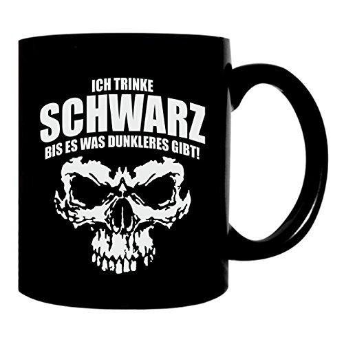 Kaffee Tasse Ich trinke Schwarz