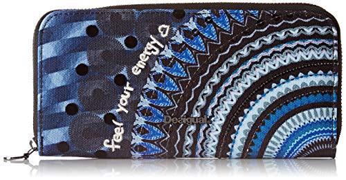 Desigual 19wayax0, portafogli donna blu blu (blue indigo 5173) 2x9.5x19 cm (b x h x t)
