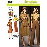 Simplicity 3688 AA - Patrones de Costura para Ropa de Mujer (Tallas Grandes)