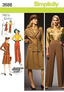 Simplicity Sewing Pattern 3688 BB Miss/ Plus Size Sportswear