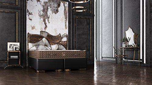 Schlichter Möbel Boxspringbett Industrial Design Set I UNIKAT