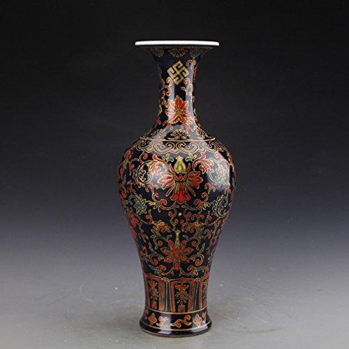 Antike Antike Antiquitäten Machen die Alte Sammlung von Emaille Porzellan Schatz Muster Fischschwanz Flasche,A
