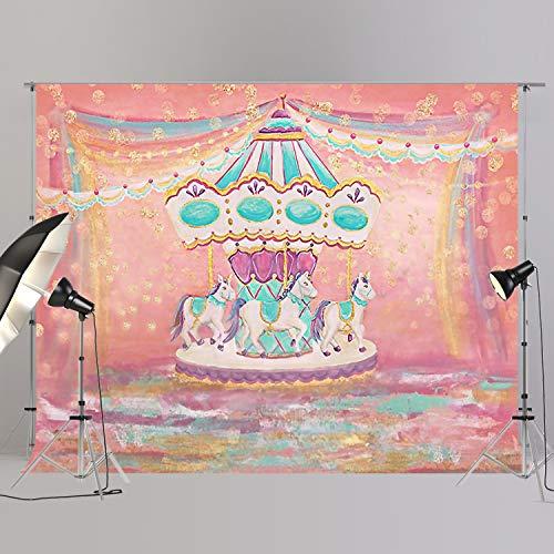 joypark Circus Zelt Foto Booth Hintergrund für Party Dekorationen Supplies Fotografie Rückseite Drop für Baby-Dusche Oder Geburtstag Bilder Vinyl Requisiten, XT6759, 8x6ft(250x185cm)