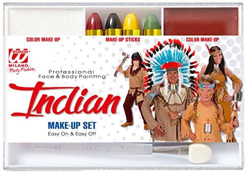 WIDMANN–Set Schminke Indianer unisex-child, Einheitsgröße, vd-wdm02405