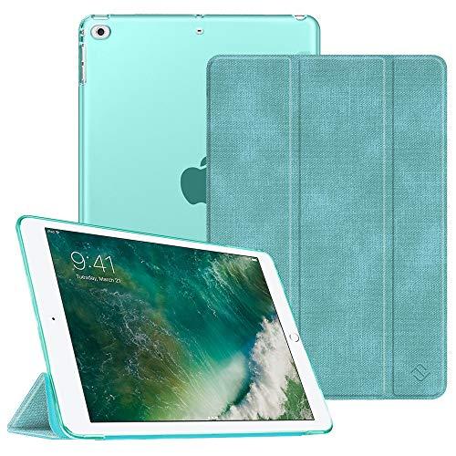 Fintie Hülle für iPad 9.7 Zoll 2018 2017 / iPad Air 2 (2014) / iPad Air (2013) - Ultradünn Schutzhülle mit transparenter Rückseite Abdeckung Cover mit Auto Schlaf/Wach Funktion, Jeansoptik Türkis - 4. 64 Gb Generation Ipad