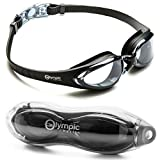 Olympic Nation Pro Swim Goggles - Black | Clear Lenses