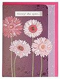 Geburtstagskarte Nachträglich Blumen Relief mit Fenster