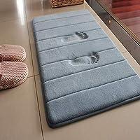 LiGG Badteppich Anti Rutsch Badematte Absorbent Badvorleger Memory Foam Badezimmerteppich Badematten Fußmatten,60 * 90cm