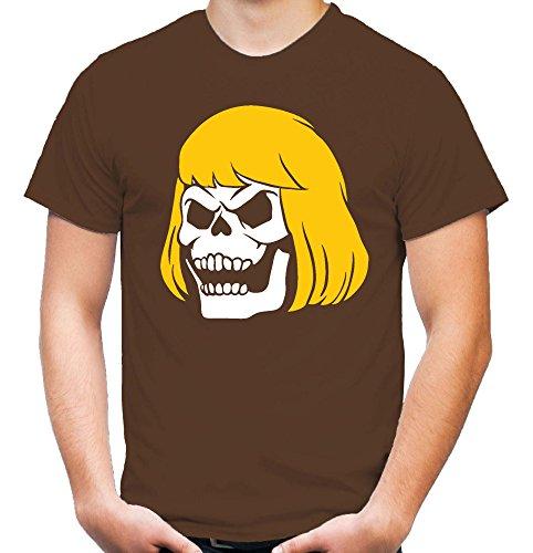 Death He-Man Männer und Herren T-Shirt | Masters Of The Universe Skeletor Geschenk (XL, Braun)