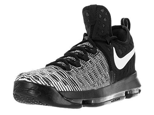 Nike Zoom Kd 9, Chaussures de Sport-Basketball Homme Blanco (Blanco (black/white))
