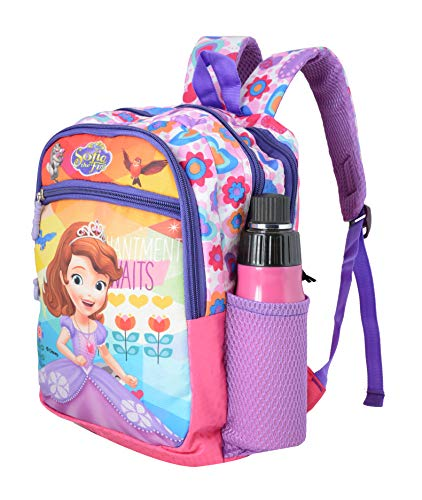 Disney School Bag for Girls 04+ Years Sofia The First Flower Print 16 (L) Polyester (Dcp-249-30), Colour: Pink