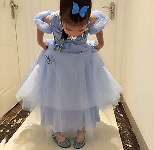 Brinny Enfants Fille Trous Sandales PVC Cristal Princesse Chaussures Ballerine bride cheville Talon Bloc 3.5cm 3 Couleur: Bleu / Blanc / Pink Taille: 25-35 Bleu