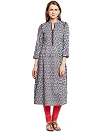 Tissu Printed Cotton Anarkali With Embroidery Work
