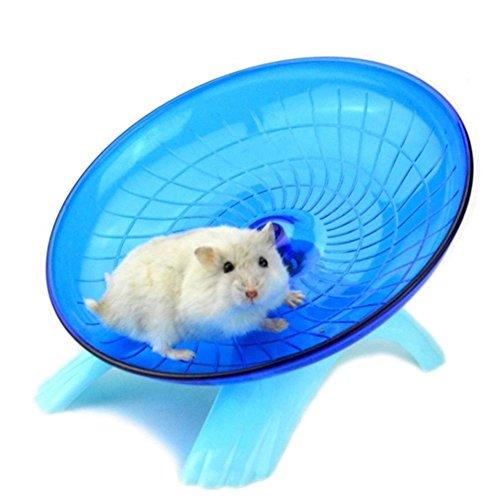 rungao Flying Untertasse Laufrad Hamster Rennmaus Käfig Pet Spinner Spielzeug blau