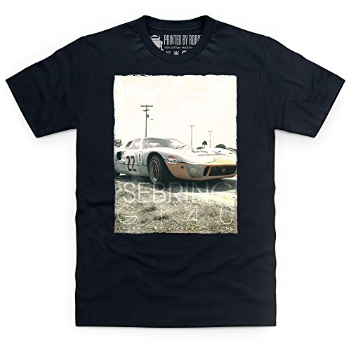 Official LAT Photographic Ickx & Oliver, 1969 Sebring 12 Hours T-Shirt, Herren Schwarz