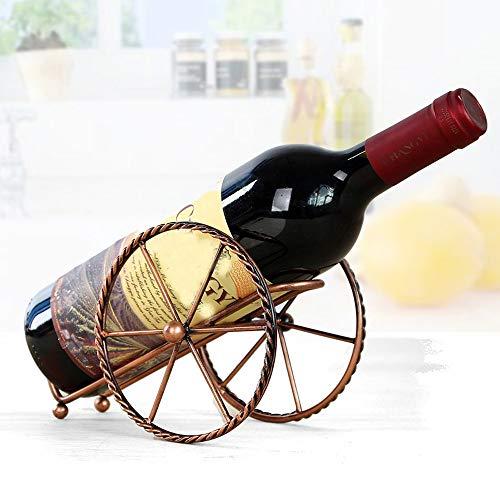 TAOtTAO Schmiedeeiserne Weinregaldekoration Weinregal Ständer Flaschenhalter Lagerung Hochzeit...