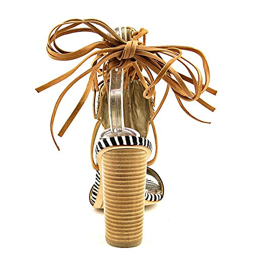 Sandales à talons Sam Edelman avec bande frontale ornée des petites perles et paillettes multicolores ZEBRAZEBRA