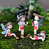 #9: Back Garden Miniature Set of 4pcs. Fairy Girls for Bonsai and Tray Garden Décor