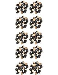 Gamesson Billardtisch-Queue-Spitzen, mit P12 Kunststoff mit Schrauben, 100 Stück, bunt