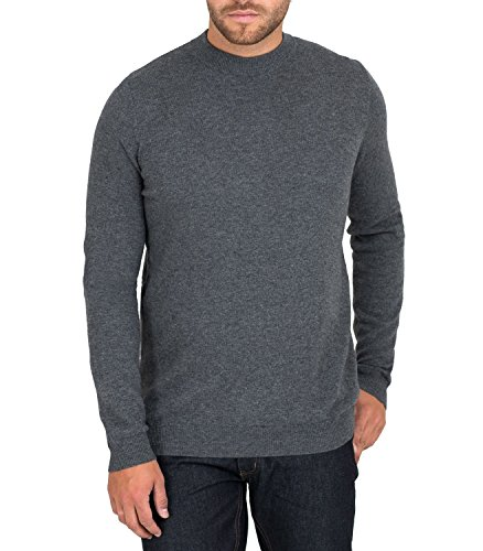 Wool Overs Pull à col cheminée cachemire-mérinos Homme Anthracite