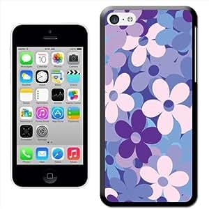 'Fancy A Snuggle viola blu fiori Madness 'snuggle Cover rigida per Apple iPhone 5C