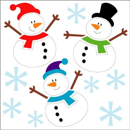 Indigo worldwide - pupazzi di neve 3d, in gel, decorazione natalizia, si incollano su finestre,specchi, ecc.