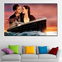 tzxdbh Kate Winslet Leonardo Dicaprio Titanic Canvas Art Print canvas Painting Home Decoration Wall Picture for Living Room-in Painting & Calligraphy from NO FRAME 40x65CM