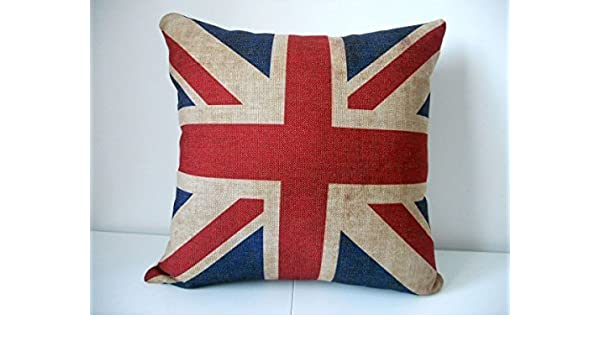 18x18 in Union Jack Pillow Case Square